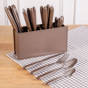 Set 24 Piece French Grey Cutlery Set - cutlery