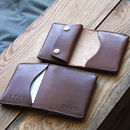 Personalised Leather Folding Wallet With Coin Pouch