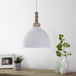 White Enamel Ceiling Pendant Light - pendant lights
