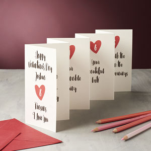 Personalised Eight Reasons I Love You Valentine Card - seasonal cards