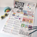 Rainbow Newspaper Gift Wrap