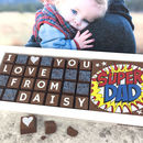 I Love You Super Dad Message Chocolate Fathers Day Gift