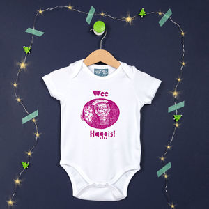 Haggis Print Scottish Baby Vest - underwear