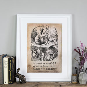 Alice In Wonderland 'It Would Be So Nice' Poster Print - winter sale