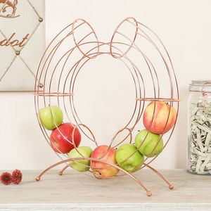 Copper Metal Fruit Holder - fruit bowls