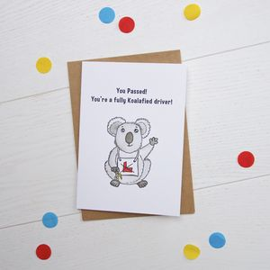 Koalafied Driver Greetings Card