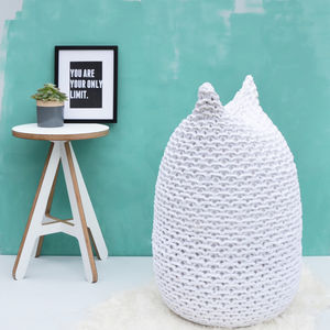 Hand Knitted Oval Bean Bag - furniture