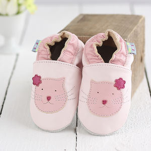Soft Leather Kitten Baby Shoes - more