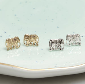 Elephant Stud Earrings For Strength
