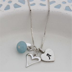 Personalised Childs Heart Necklace With Birthstones