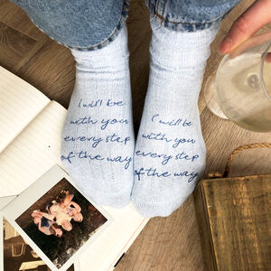 Personalised Thinking Of You Snug Socks