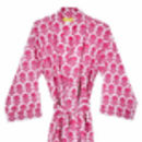 Adoor Stylised Carnation Print Bathrobe