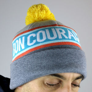 'Bon Courage' Knitted Beanie - hats