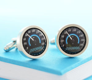 Personalised Sportscar Speedometer Cufflinks - summer sale