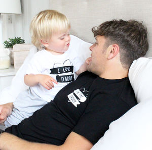 'I Love Daddy', 'I'm The Daddy' T Shirt Set
