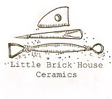 Little brick house ceramics glaze sample logo