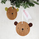 Baby Bear Decoration With Name Tag