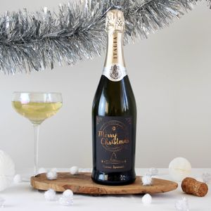 Christmas Personalised Prosecco Bottle - personalised