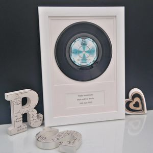 Personalised Framed Vinyl Record Your Wedding Song - gifts for her