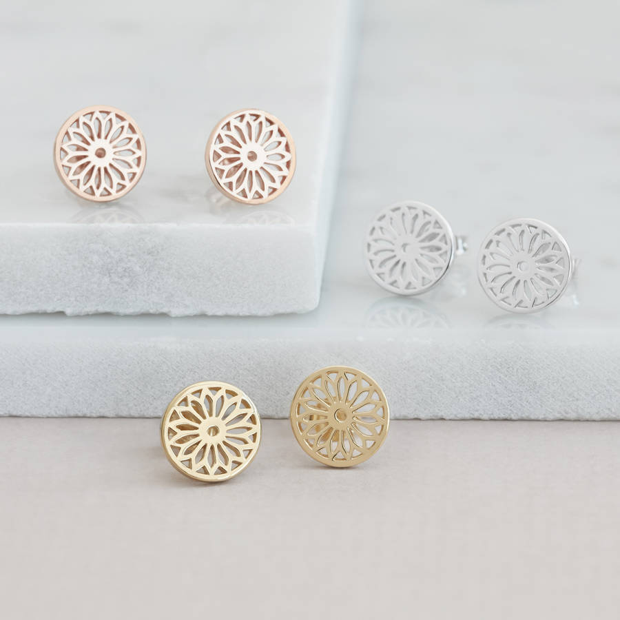 Eternity Dreamcatcher Stud Earrings By Muru Talisman