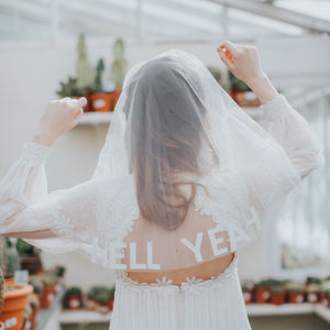 Custom Slogan Circle Veil - zen party