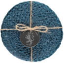 Set Of Four Hand Woven Silky Jute Coasters