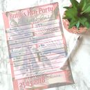 Personalised Hen Party Cocktail Quiz Game