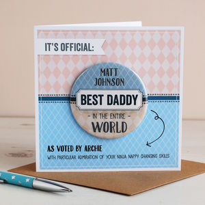 Best Dad / Grandad In The World, Badge Card