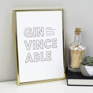 Witty Gin Definition Print