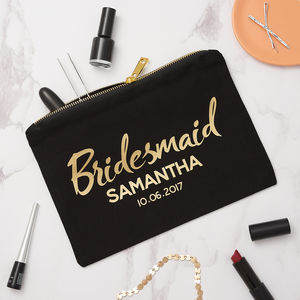 Personalised Bridesmaid Make Up - make-up & wash bags