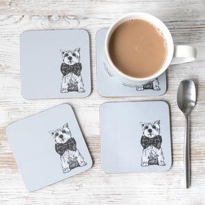 'Archie' West Highland Terrier Mug And Coasters Set - tableware