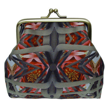 Silk Purse In Elastic Lily Print