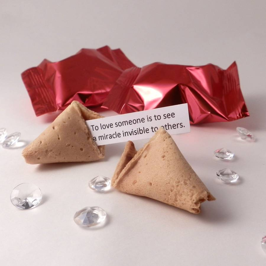 150 Personalised Wedding Fortune Cookie Wedding Favours By