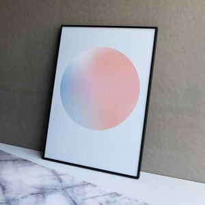 Limited Edition Blush And Blue Gradient Dot Print