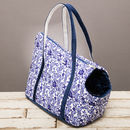 The Richmond Blue And White Floral Dog Carrier