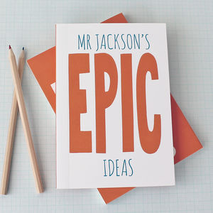 Personalised Epic Notebook - writing