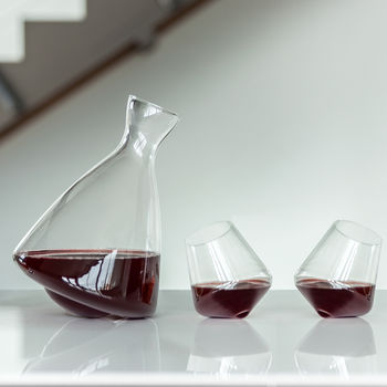 Rolling Decanter And Optional Personalised Glasses