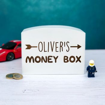 kids money box pocket money coins custom special laser engraved