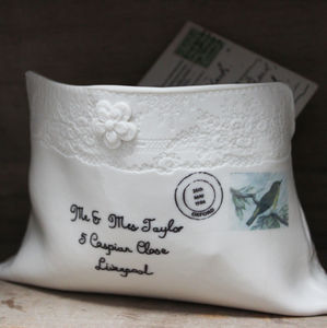Personalised Porcelain Envelope - home accessories