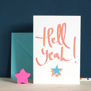 Hell Yeah! A Well Done Or Congratulations Card - new in