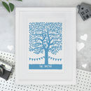 Personalised Family Tree Papercut Or Print