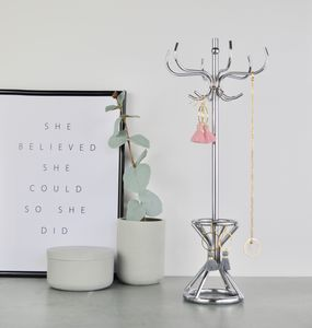 Personalised Silver Jewellery Stand - jewellery storage & trinket boxes