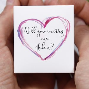 Personalised 'Will You Marry Me' Proposal Ring Box