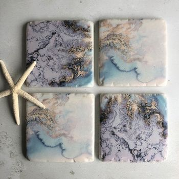 Water Ink Nautical Design Coasters