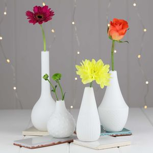 Porcelain Engraved Flower Vases - flowers, plants & vases