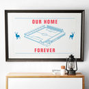 'Our Home Forever' Pool Football Stadium Print