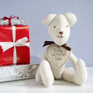Personalised Handmade Teddy Bear For Her - soft toys & dolls