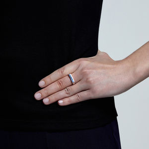 Sterling Silver Caj Stacking Ring