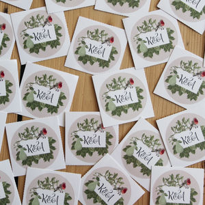 Personalised Festive Stickers - christmas stickers