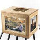 Personalised Mr And Mrs Photo Cube Keepsake Box